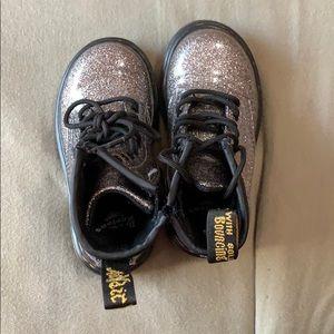 Silver Dr. Marten toddler boots
